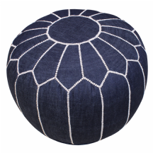 Moroccan Denim Pouffe Pouf Footstool Blue Jean COVER  ONLY or STUFFED